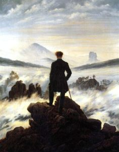 Il Viandante su un mare di nebbia, Caspar David Friederich, 1818, Hmburger Kunsthalle