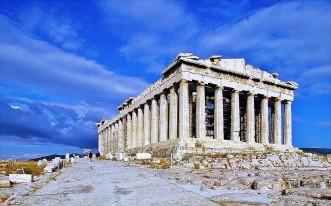 Veduta del Partenone, probabilmente simile a quella che doveva osservare Plutarco al suo tempo